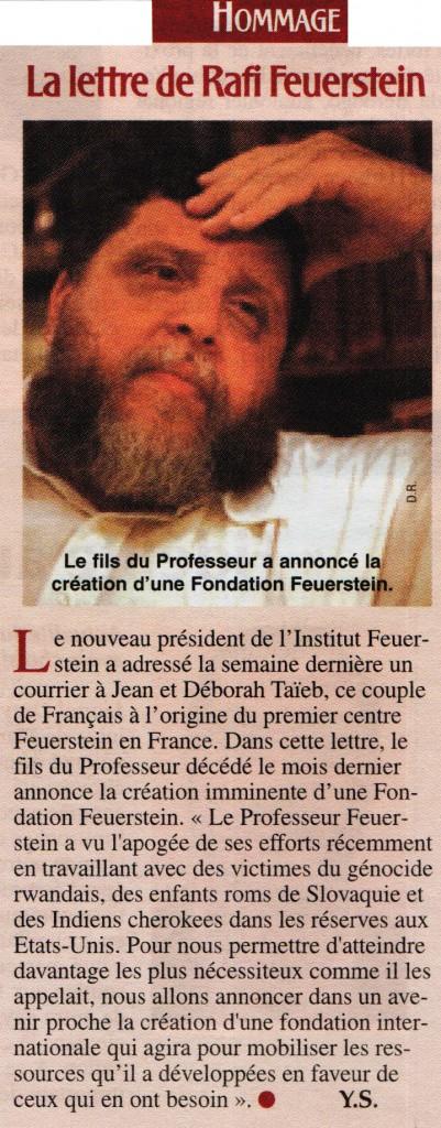 lettre rafi feuerstein