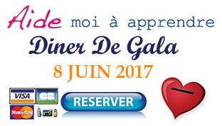 Réservation Dinner de Gala 2017